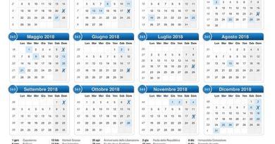 Calendario Gare 2018