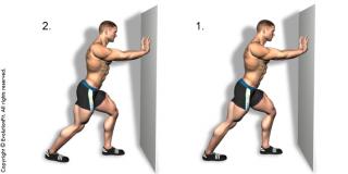 Stretching allungamento polpaccio