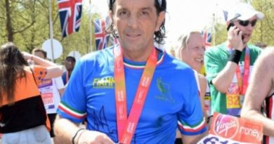 Sabino Rinaldi alla Maratona di Londra