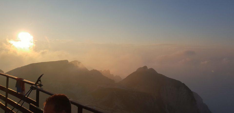 tramonto al rifugio fraccaroli