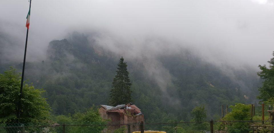 Veduta dal rifugio Bschetto