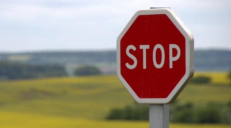 cartello stop tendinite