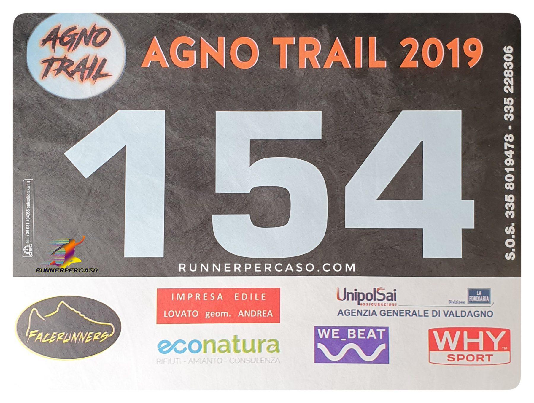 Agno Trail 2019 | Pettorale