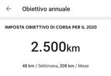 obiettivo 2020: 2500 km